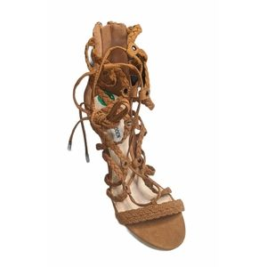 Brown Suede Laced Up Heels From Steve Madden